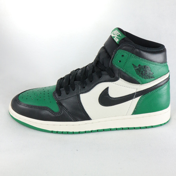 ac589870305e NIKE Air Jordan 1 Retro High OG Mens Pine Sneakers.  M 5c3cb75c035cf1d6d7e00773